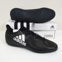 MURAH BERKUALITAS Sepatu Futsal Adidas X Techfit IC (Black White)