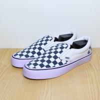 Sepatu Vans Checker Board Slip On Navy Premium Quality