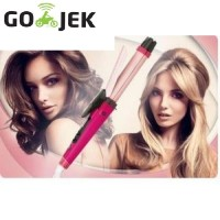 CATOKAN PELURUS RAMBUT 2in1 HAIR STRAIGHTENER CURLY BIG 5 LEVEL PANAS