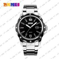 Jam Tangan Pria Analog SKMEI 0992 Black Stainless Water Resistant 30M