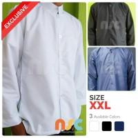 Baju Koko Putih Polos Lengan Panjang Ukuran Besar / Jumbo / Big Size