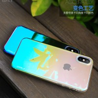 CAFELE iPhone X Case - Glaze Luxury PC Hardcase [Free Tempered Glass]