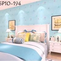 Wallpaper Sticker Wall Paper Stiker WSP10-194 Biru Laut Ikan