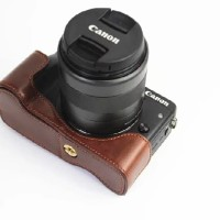 CAMERA CANON EOS M3, KAMERA MIRRORLESS  HALF CASE LEATHER CASING COVER