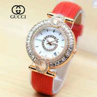 Jam tangan wanita Gucci balon kulit