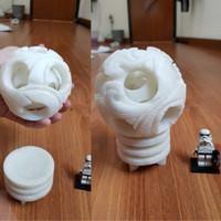 pajangan bola dari batu alam asli ukiran naga lampion imlek angpao