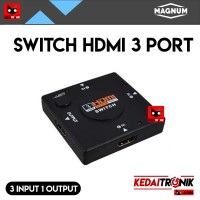 Switch HDMI 3 Port MAGNUM Manual 3 input 1 output Switcher FULL HD 4K