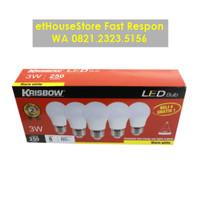 KRISBOW SET LAMPU BOHLAM LED 3W 5 PCS - WARM WHITE