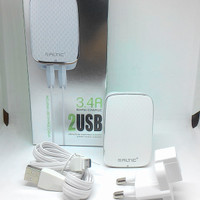 Travel charger chasan universal micro 2 usb 3,4 amphere merk altic