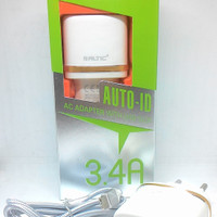 Travel charger chasan colokan type c 2 usb 3,4 amphere altic
