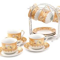 cangkir set/tea set/cup and saucers set vicenza B671