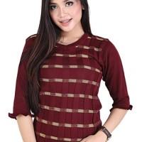 Catenzo Sweater Rajut Knit Kasual Wanita Branded - Catenzo ZM 091