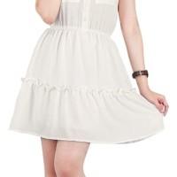 CAtenzo Dress Casual Wanita Putih Murah - Catenzo RJ 012