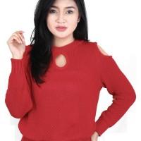 Catenzo Sweater Rajut Knit Kasual Wanita - Catenzo WD 021