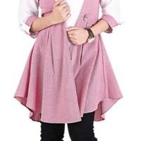 Catenzo Dress / Kemeja Casual Wanita Berkualitas- Catenzo DC 032
