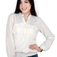 Catenzo Atasan Casual Wanita Putih - Catenzo MT 055