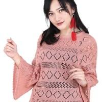 Catenzo Knit Casual Wanita Pink Berkualitas - Catenzo RJ 008