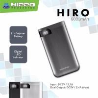 HIPPO POWERBANK HIRO 6000 mAh Power Bank Hippo Original resmi