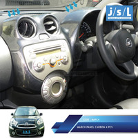 Nissan March Panel Karbon Dashboard JSL / Panel Carbon 4pcs