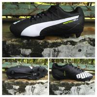 Sepatu bola Puma evospeed SL hitam sol bawah componen