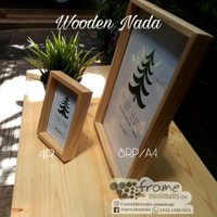 frame foto kayu wooden Nada 8rp/A4/21x30cm