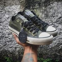 Sepatu Converse ox classic olive green vietnam.