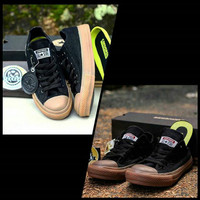 sepatu Converse CT II black sole gum unisex