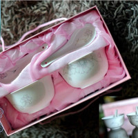 Souvenir Cantik Bowl+Spoon Set-cocok u/wedding,bridesmaid,ultah,READY!
