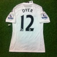 Original Jersey Swansea 2014-15 Home Adizero Dyer Baju Bola Asli