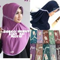 jilbab hijab kerudung syiria serut list motif