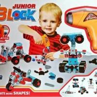 BLOCK JUNIOR - MAINAN ANAK LAKI BLOCK BUILDER 286 PCS - ALAT TUKANG
