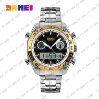 Jam Tangan Pria Digital Analog SKMEI 1204 Gold Water Resistant 30M