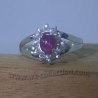 Cincin Wanita-Model Exclusive-Perak 925-Batu Ruby Star (seri RL018B)