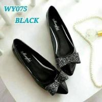 Sepatu Wanita Flat Shoes Pita Gliter SDB79