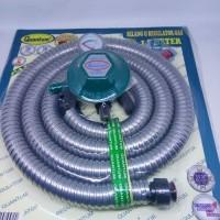 [MURAH ] Selang Tabung gas Quantum Qrl -032 -paket regulator 1,8 m