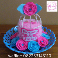 kotak cincin pengantin unik murah sangkar bunga