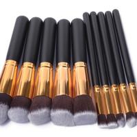 10 In 1 Make Up Brush / Kuas Make Up Isi 10 Pcs Brush Murah Import