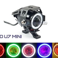 Lampu Tembak Sorot LED Cree Transformer U7 MINI Angel Eyes
