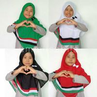 Jilbab Palestina Segiempat Double Hycone Palestin Anak Warna Merah