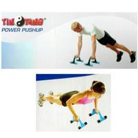 Push Up Power - BIRU / alat olahraga push-up stand pushup bar portabel