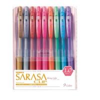 Zebra Sarasa Clip 1.0 Shiny Colour Isi 9