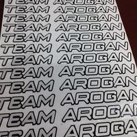 Cutting Sticker / Stiker Team Arogan Visor Helm