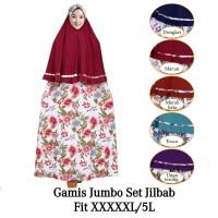 Gamis Jersey Gamis Muslim Syari Set Hijab 2 Layer