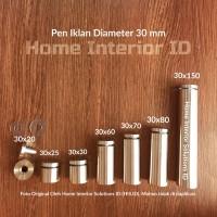 Pen Iklan 30 X 20 mm Stainless Steel Baut Akrilik