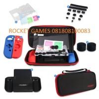 Nintendo Switch Dobe Protective Kit 7 in 1 (Black List Red)