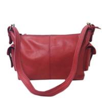 [L] Sling bag wanita kulit sapi asli shoulder selempang polos keren