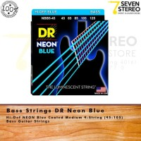 DR Strings Hi-Def NEON Blue Coated Medium 4 String Bass