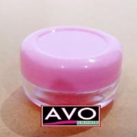 botol pot bening pink lulur cream - 5 gram (eceran/grosir)