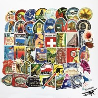 Sticker Stiker koper 50 Pcs : Retro Hotel Collection III Travel Rimowa