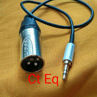 Mini jack 3.5 mm sennheiser to xlr male kabel audio canare